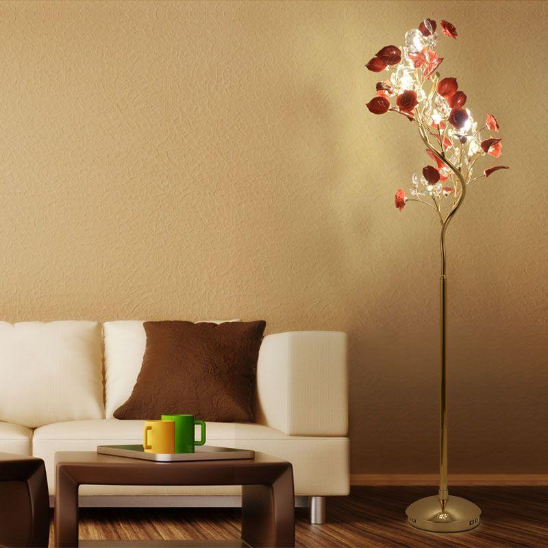 Französisch Garten, vertikale Stehlampe moderne Keramik Kristall Lampe Hotelzimmer Schlafzimmer Stehlampen Esszimmer Lampe einfache Nacht Kristall Stehleuchte