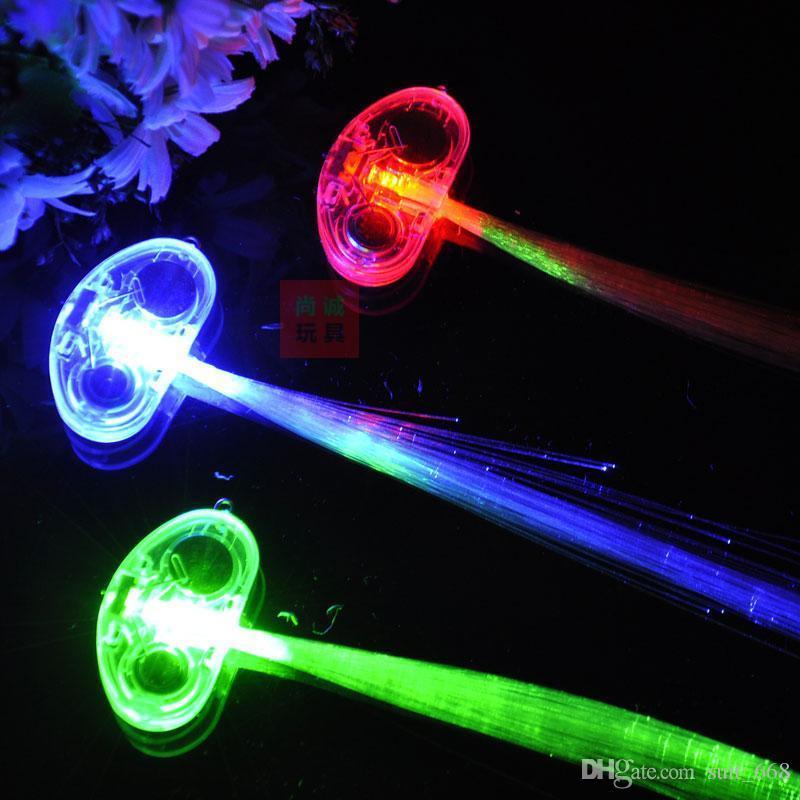 La luz del flash que emite trenzas coletas de fibra de pelo Glow Bar KTV concierto apoyos que animan con el envío gratis