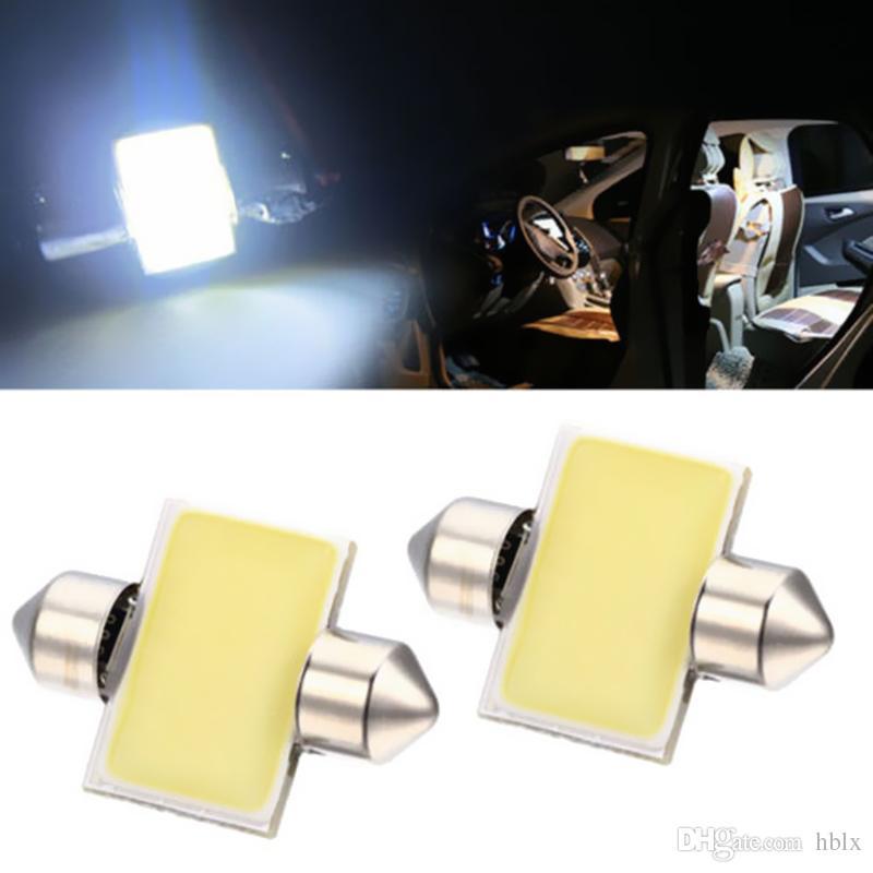 2 ADET Beyaz 31mm 12-SMD 12 V COB LED Araba İç Festoon Dome Harita Ampuller DE3175 CLT_04K