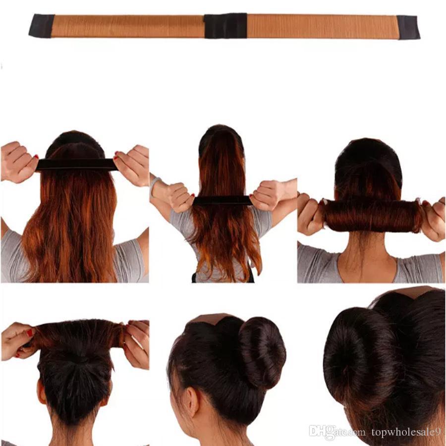 Bun Maker Doughnut Magic Roll Tool DIY Hair Foam Ring Shaper Snap Lock Twist