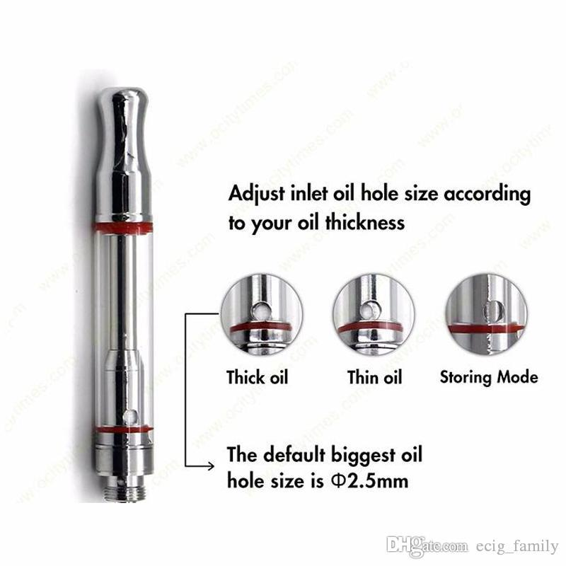 CE3 A3 leak proof bud touch cartridge atomizer 510 glass vaporizer adjust oil hole 2.5mm biggest size thick oil tank