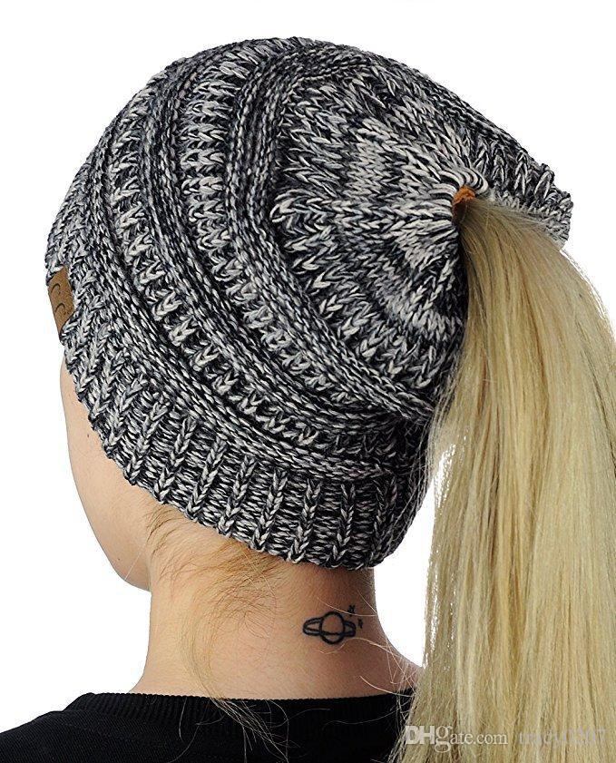 Mode Frauen Hut Herbst Winter Hüte stricken Beanie Mädchen Caps Warme Hüte Gehörschutz Wollmütze Schöne Schal Cap