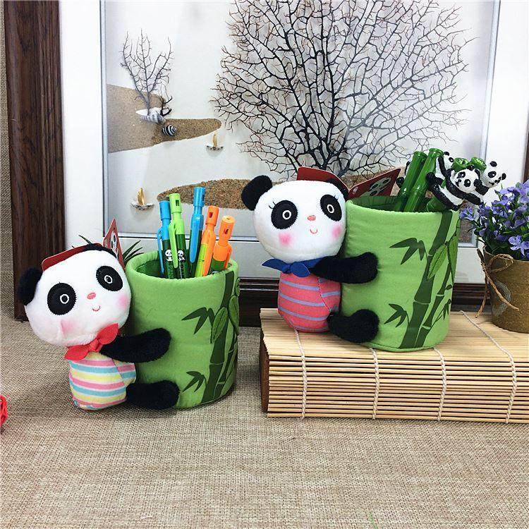 Panda gigante del fumetto creativo, penna a sfera rotonda alla moda, portapenne di stoffa, cartoleria, souvenir turistici di Chengdu