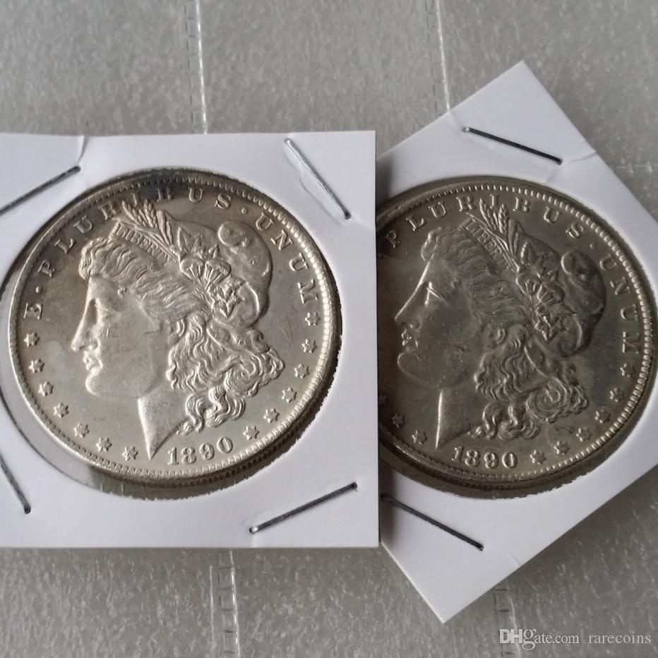 Morgan 1890 Two Face Coin pièces de monnaie intéressantes Coins Cadeaux maison Accessoires Silver Coins