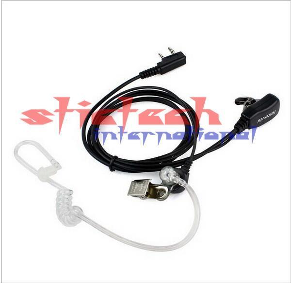 DHL 또는 EMS PTT MIC 무전기 양방향 라디오, CB 햄 500PCS 2 PIN 비밀 음향 관 이어폰 의해