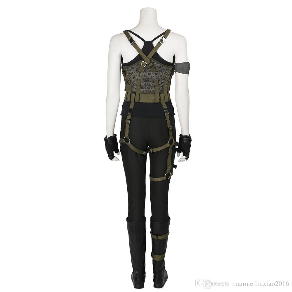 Resident Evil The Final Chapter Alice Cosplay Costume Full Set