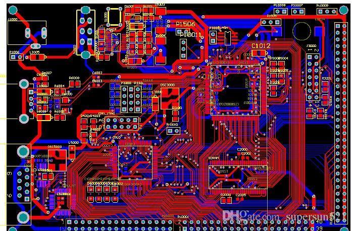 TMS320VC5509A Development Board PCB-bestand TMS320VC5509A Schematisch en PCB-bestand met EPM7128 CPLD 16C550 TLV320AIC23 Flash SDRAM DIY KIT