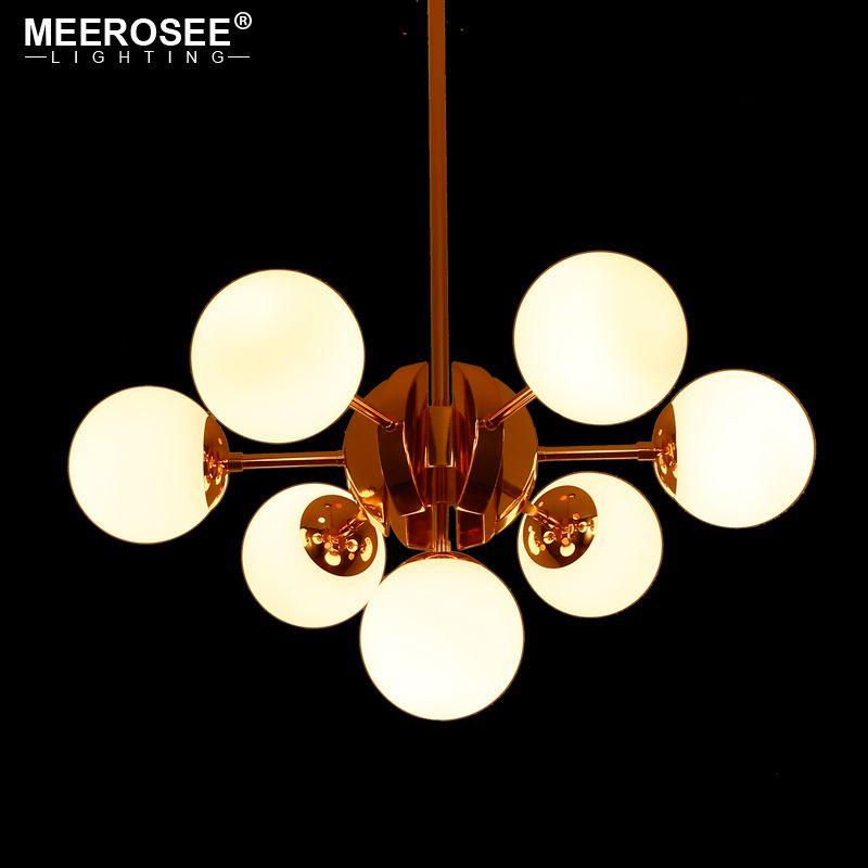 North European Style LED Pendant Lights Hanging Luminaire for Restanrant Dining room Creative Glass Ball Pendant LampsLighting