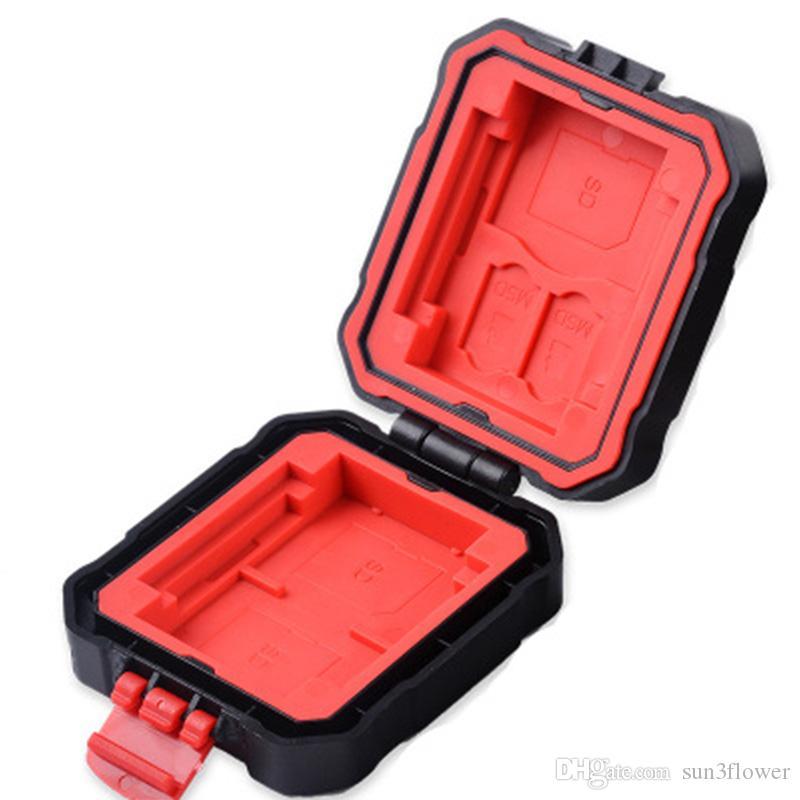 Anti-shock Waterproof Memory Card Case Storage Box 4 CF// 8 SD 12 TF Red