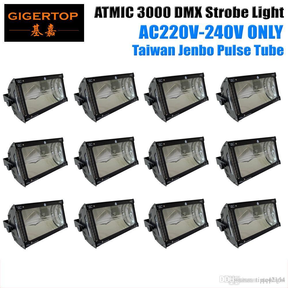 Fabrika Doğrudan Satış 12XLOT Beyaz Renk Martin 3000W Strobe Işık Flaş Oranı Kontrolü Süper kör Etkisi montaj braketleri