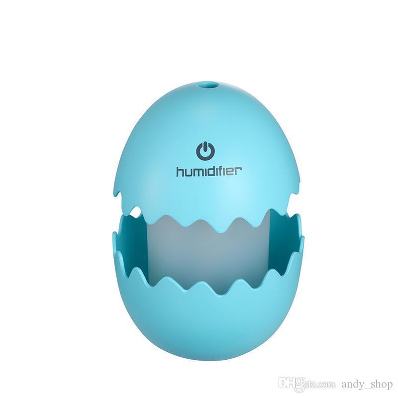 GRTCO Eğlenceli Yumurta Mini USB Hava Nemlendirici Renkli Gece Lambası Nemlendirici Araba Difüzör 100 ML Mist Maker Sisleyici
