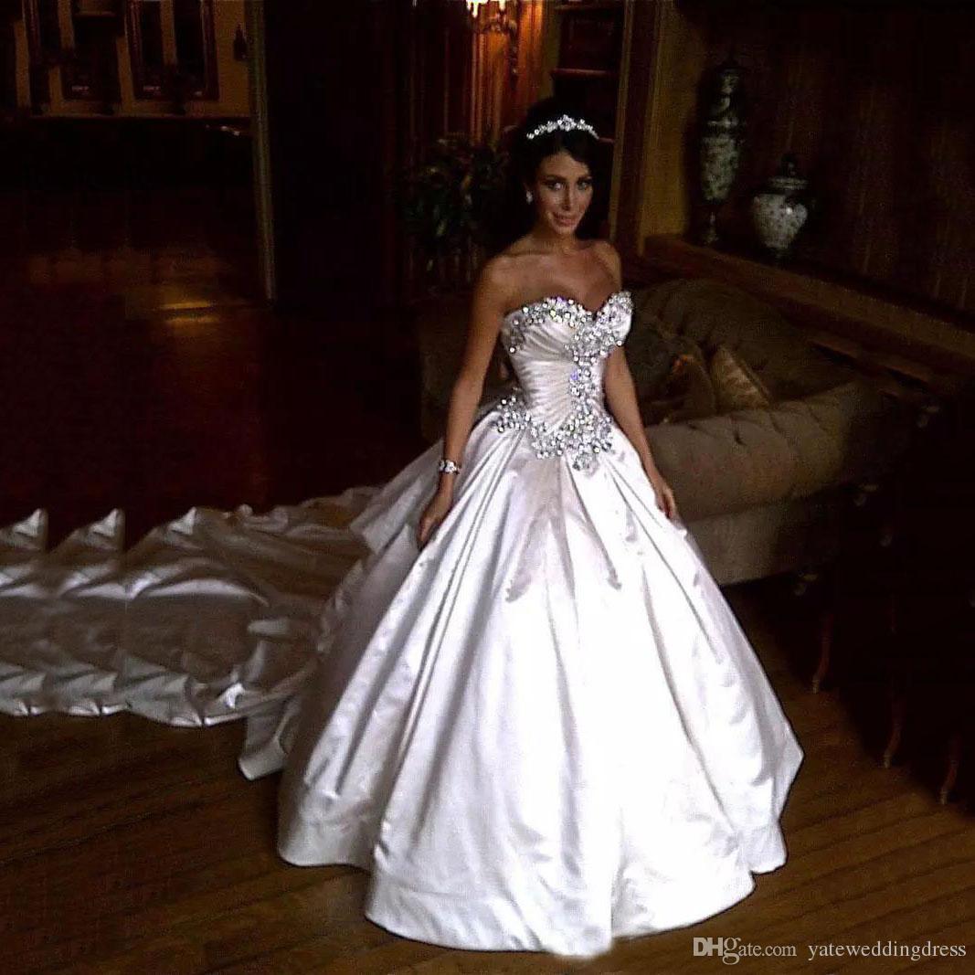 Vestidos De Noiva Do Vintage Querida Sem Mangas Frisado A Linha De Vestidos De Noiva Em Camadas Ruffle Voltar Com Zíper Custom Made Vestidos De Casamento Varrer Trem