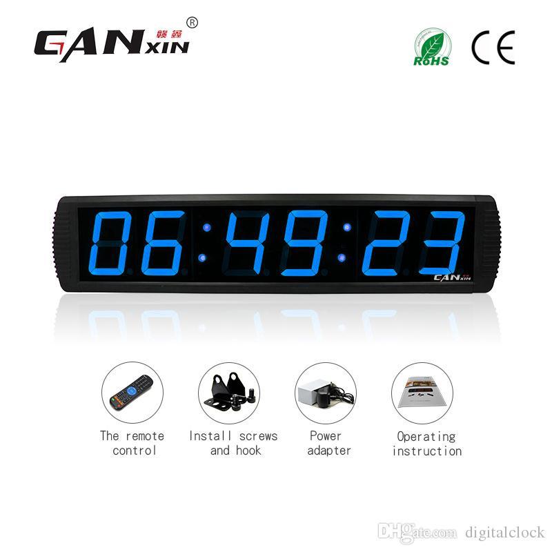 [GANXIN] 4 pulgadas 6 dígitos pantalla LED Reloj de oficina digital Garage Edition Wall temporizador reloj de cuenta atrás