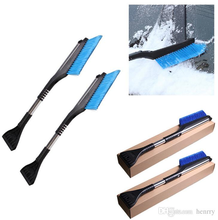 Car Home Snow Shovles Winter Aluminium Alloy Easy Long Handle Flex ABS Durable Multi Functions Snow Brush Cleanup Tool Best Quality