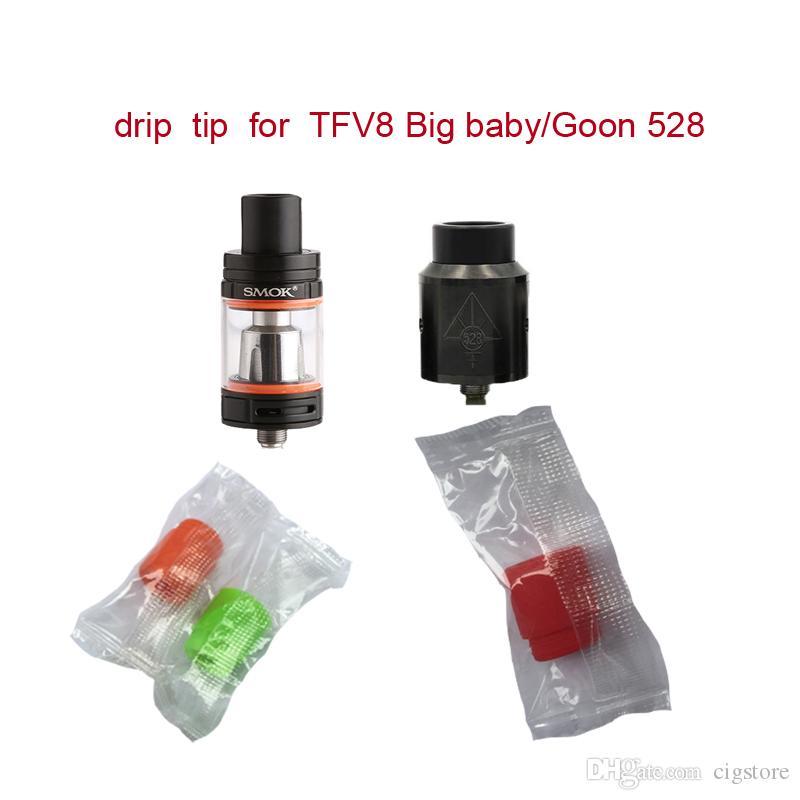 810 Conseils silicone TFV Embouchure silicone goutte à goutte Tip Conseils goutte à goutte large trou à usage unique pointes en caoutchouc de silicone testeur d'essai pour Big Mouth réservoir