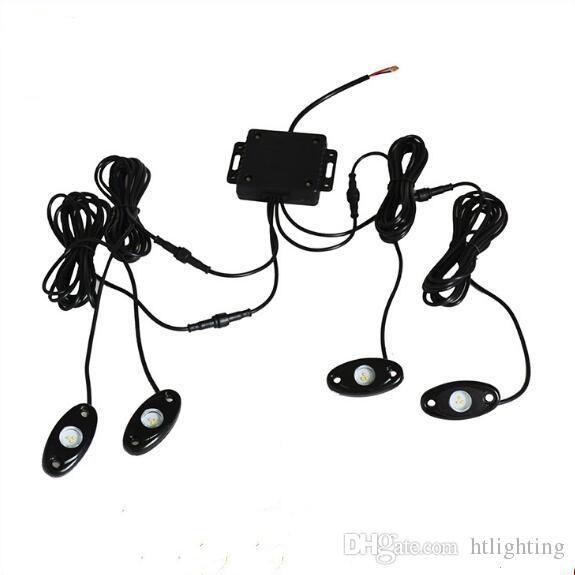 10 sets 9W High Power 9-30V Mini Bluetooth 4 Pods CREE LED RGB Rock Light Kit For Under Vehicle Truck Car SUV DIY