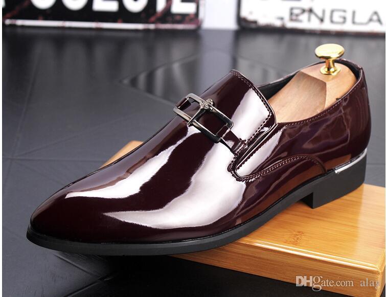 2019 Scarpe eleganti da uomo di lusso da uomo in pelle casual oxford di guida scarpe da uomo mocassini mocassini scarpe italiane per gli uomini appartamenti 38-45