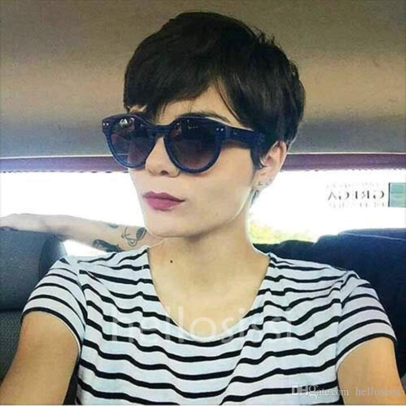short Pixie Cut wigs perruque cheveux humain full lace wigs Cheap Natural human cut hair lace front wigs with baby hair