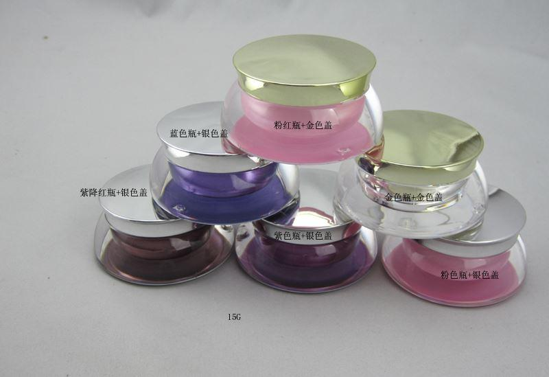 50PCS / 15g bottiglia acrilica bottiglia crema / screma bottiglie / maschera bottiglia contenitori cosmetici contenitori vuoti