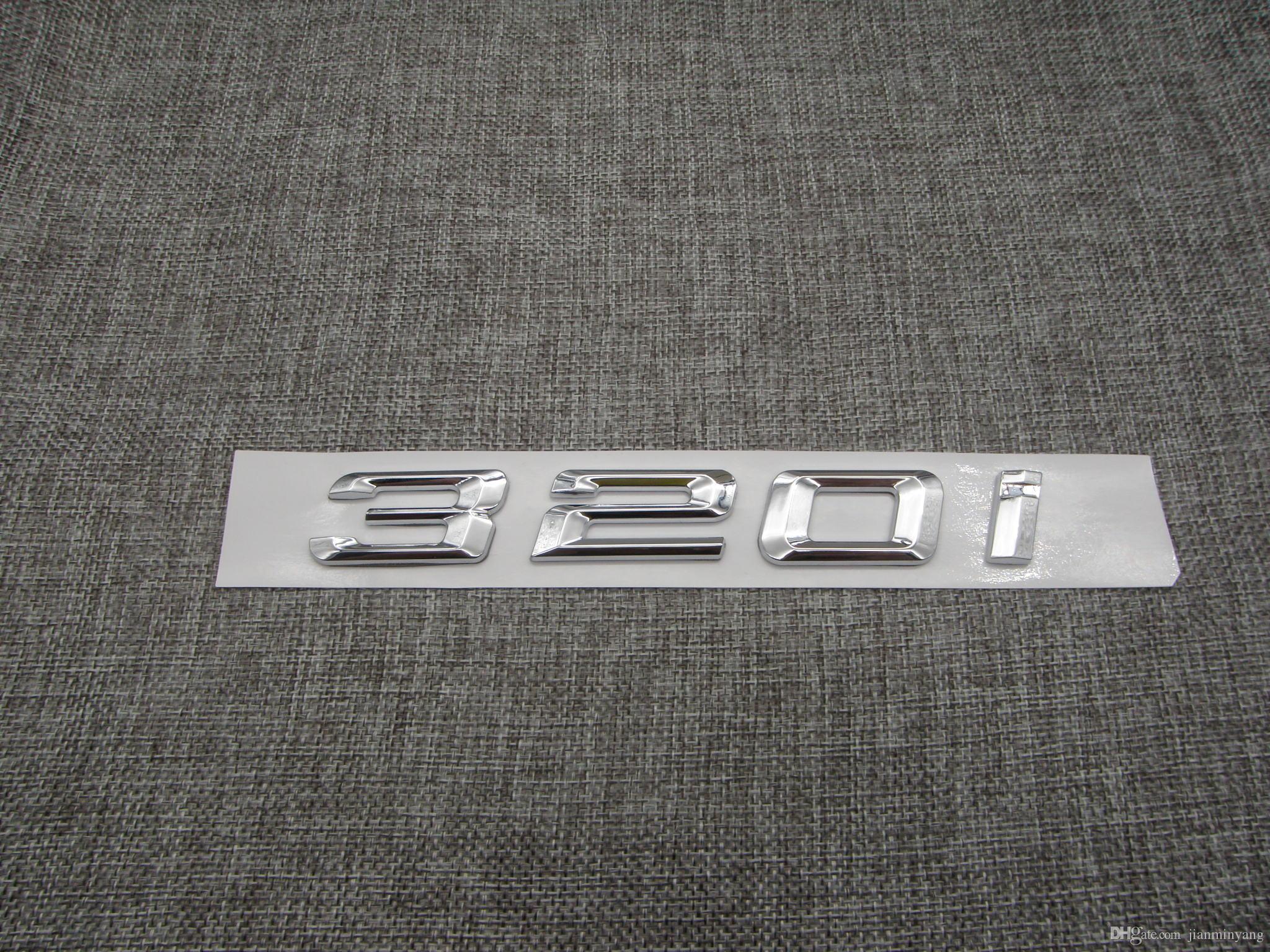 Carbon Fiber Trunk Sticker Emission Numbers Letter Emblem Badge For BMW 1 Series