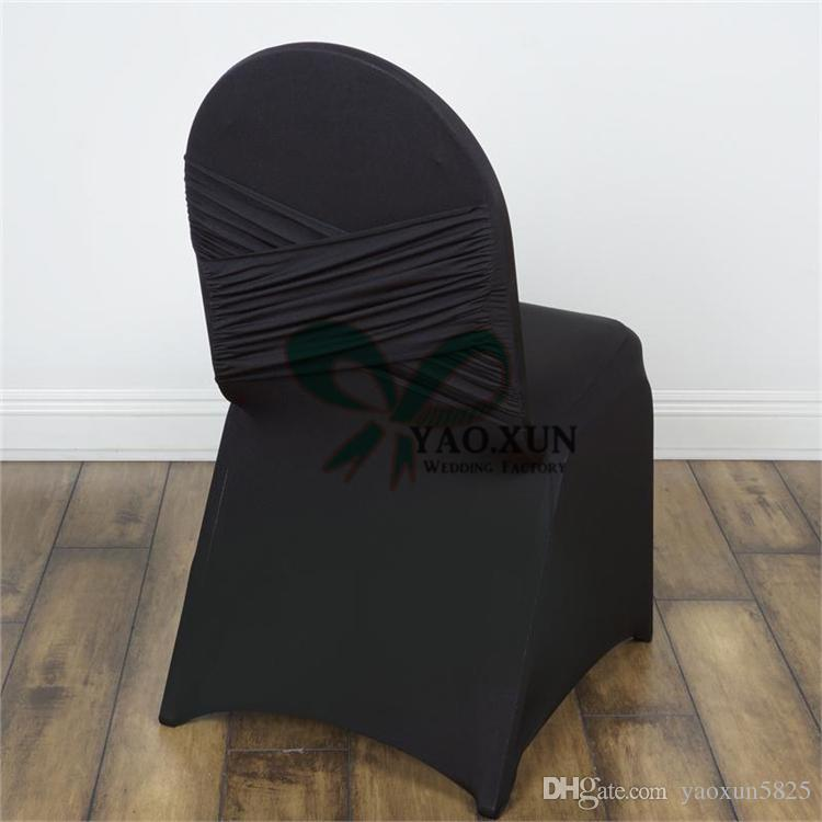 New Design Back With Swag Spandex Chair Cover Cheap Wedding Decoration