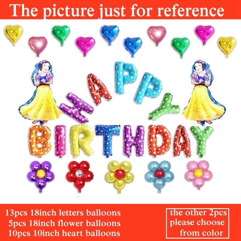 Cartoon Kung Fu Panda Balloons Happy Birthday Letter Balloons Set