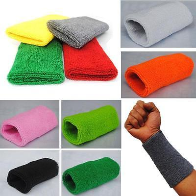 Wholesale- New Sports Basketball Unisex Cotton Sweat Band Sweatband Wristband Wrist Band