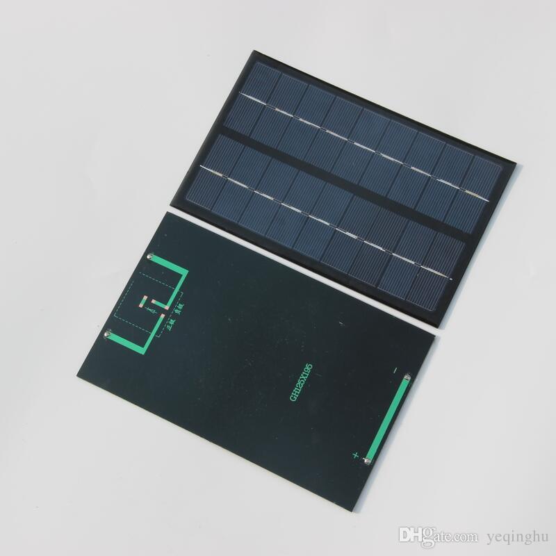 도매 고품질 3W 9V 소형 태양 전지 다결정 태양 전지판위원회 책임 작은 태양 에너지 킷 DIY 교육 연구 2PCS / Lot F