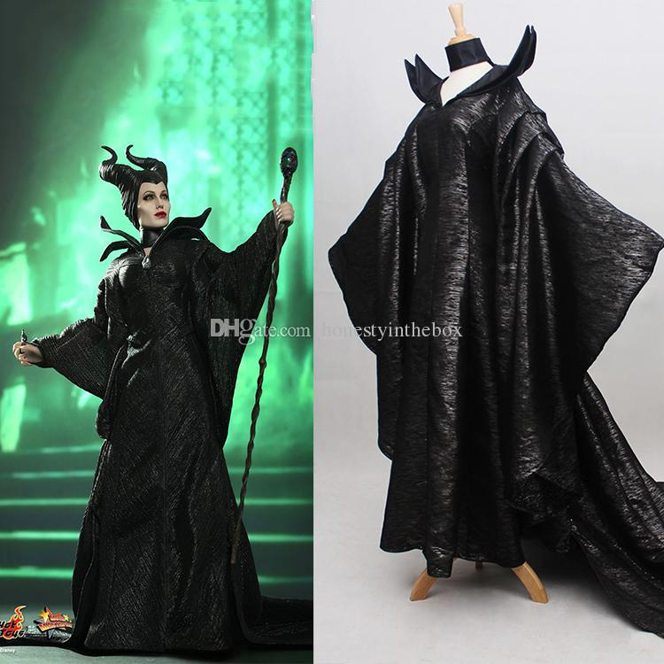 2017 Black Adult Size Long Sleeve Women Maleficent Outfit Cosplay Costumes Maleficent Dresses Plus Size Customized A Team Costume Dress Themes For