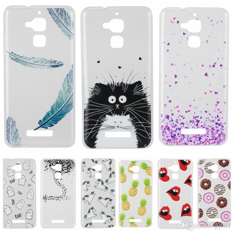 newest f7f70 050dd Clear Soft Case For Coque Asus Zenfone 3 Max ZC520TL Cute Pattern Silicone  Cover Phone Cases For Asus Zenfone 3 Max ZC520TL Cheap Phone Cases Cool ...