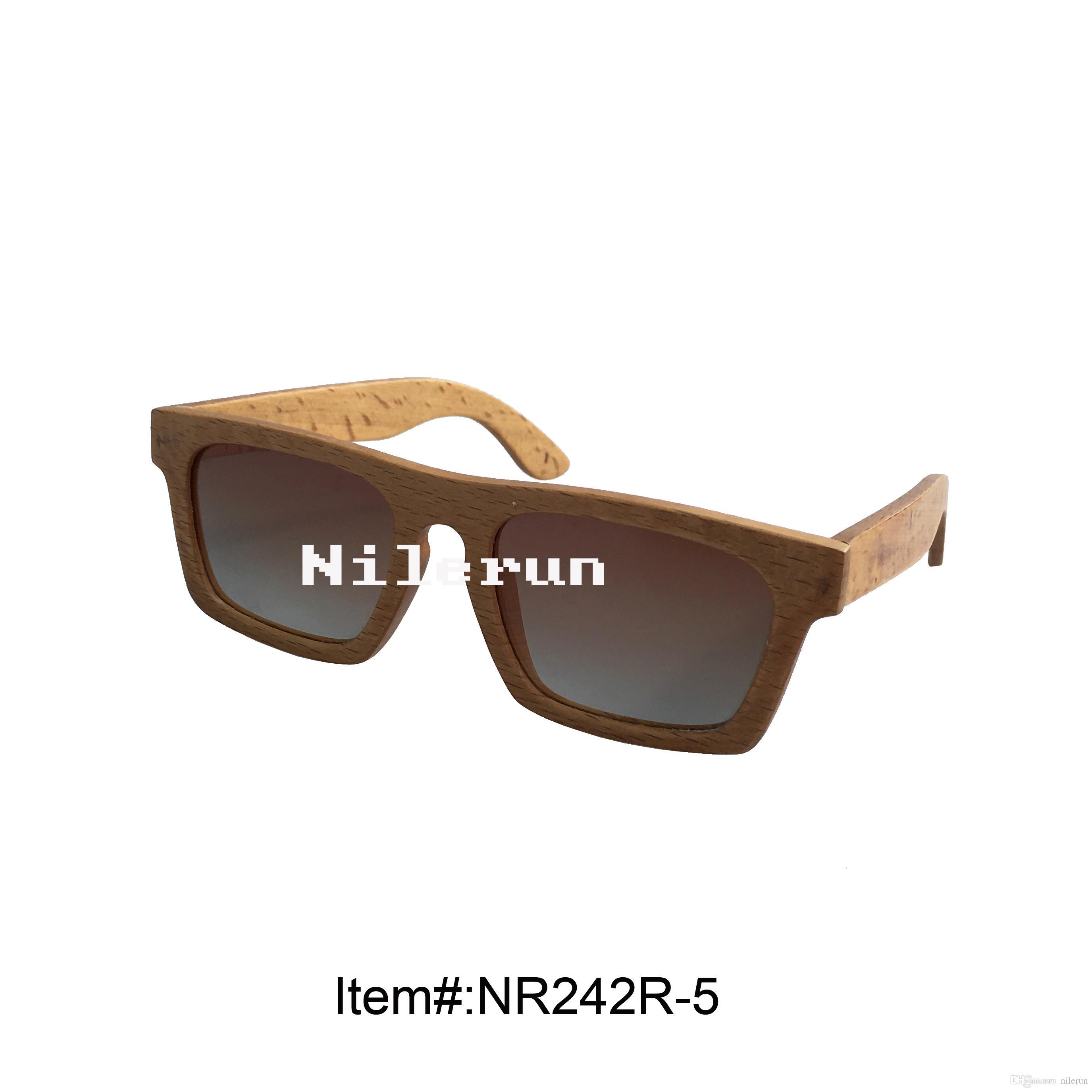 modische Sonnenbrille aus Buchenholz