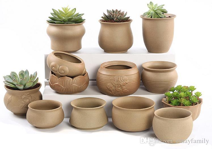 2019 Succulent Plants Flower Pots Plants Pots Rough Pottery Green Plants  Ceramic Simple Personality Creative Small Pots From Emayfamily, $8 05 |