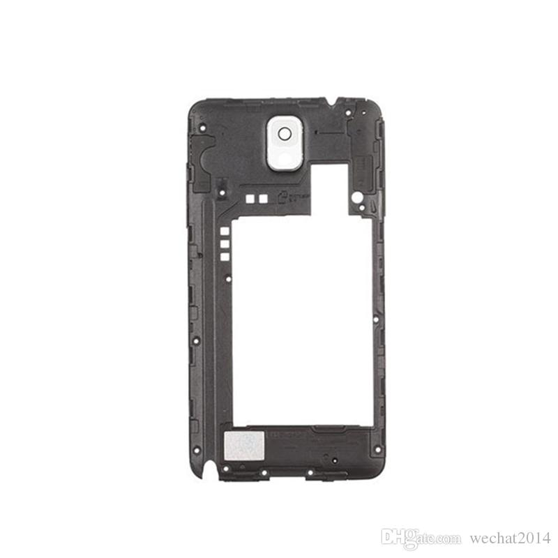 100% OEM per Samsung Galaxy Note 3 N9005 Cornice posteriore posteriore Cornice centrale con sostituzione della lente del pannello della fotocamera