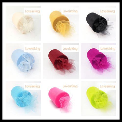 """18 cores você escolhe-6 """"x100yd carretel de tule rolos tutu diy banquete de casamento de artesanato em casa decorações de tecido fontes do partido de casamento"""