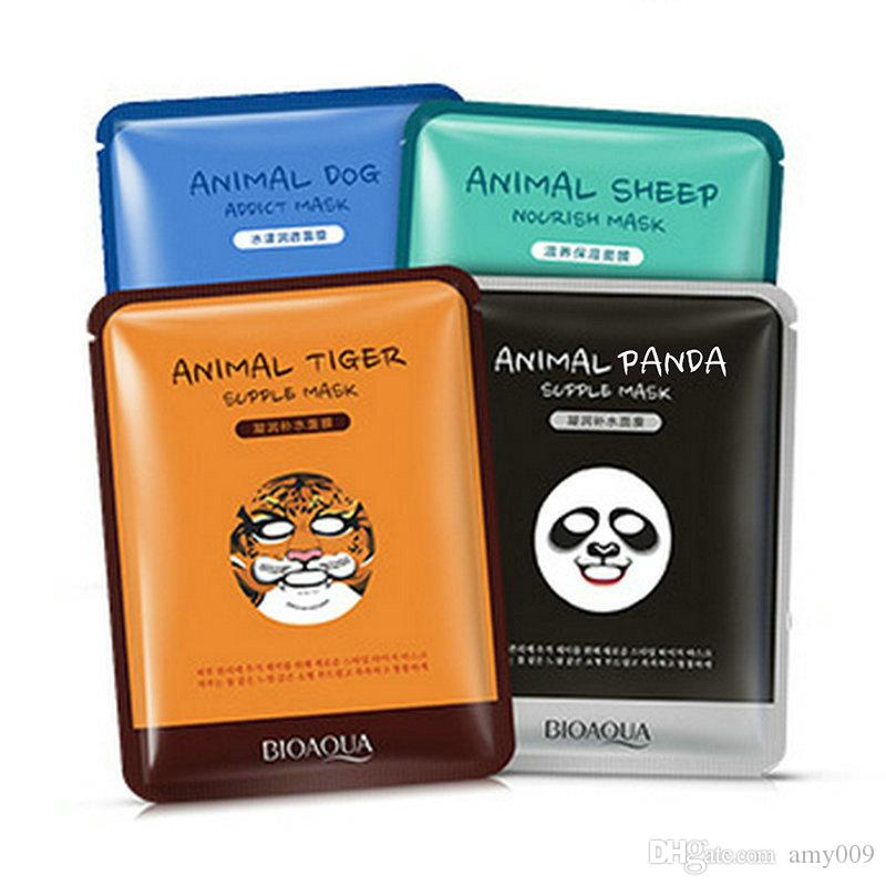 wholesale 600pcs BIOAQUA Facial supple Masks Animal Face Mask Tiger Panda Sheep Dog Shape Moisturizing Oil Control Hydrating Nourishing