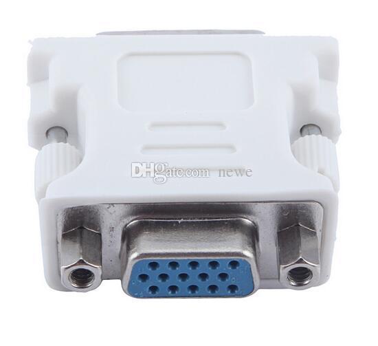 ホットコンピュータネットワークケーブルDVI-1オスHD 15ピンVGA SVGAメスビデオカードモニターLCDコンバーターアダプター