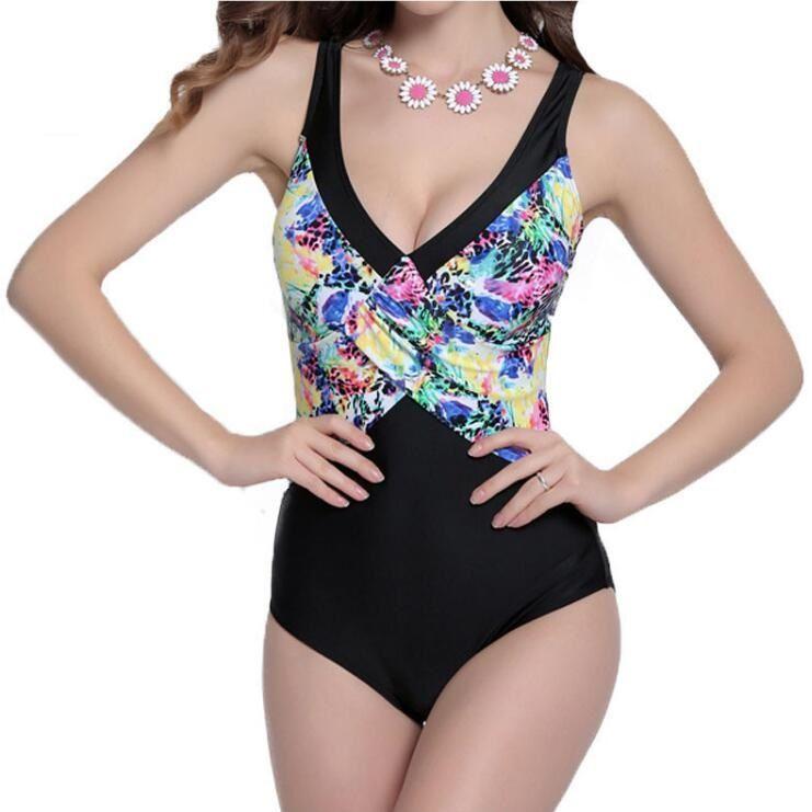 Женщины цветочный принт высокой талией спинки большой ярдов треугольник купальники купальный костюм бразильский монокини купальники боди 4XL