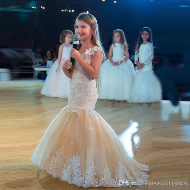 Princess Girls Pageant Dresses 2017 High Low Ball Gowns Criss Cross ...