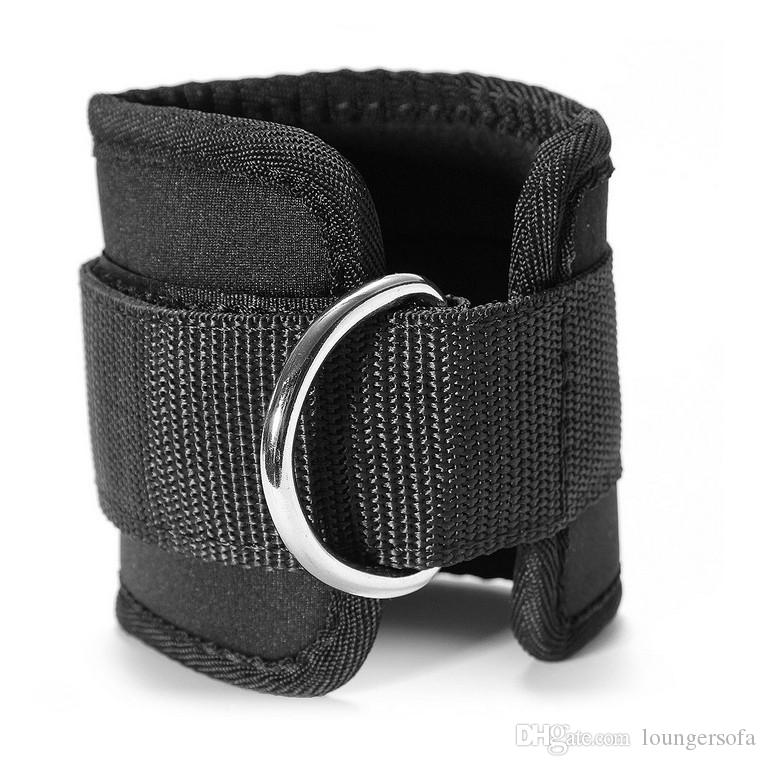 Ankle Support High Elastic Soft Black Edging Pro Sports Gym Leg Pulley Strap Lifting Fitness Strength Brace Protector For Running 5 6yf F