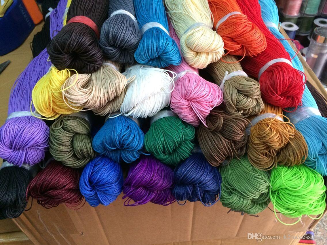 90m/LOT 1mm 25colors for choose WAXED COTTON WAX BEAD JEWELRY necklace CORD thread string wire rope