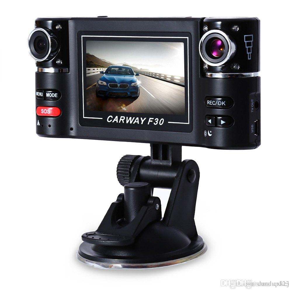 Free shipping 2.7 inch Car DVR Dual Lens Rear view Digital Video Recorder Wide Angle Night Vision Motion Detection