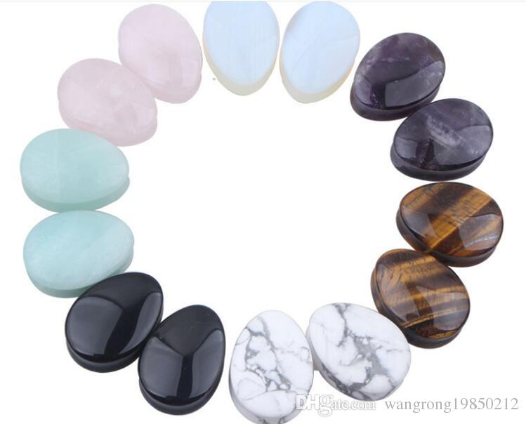 12MM New stone waterdrop Plugs seven colors can choose shipping free