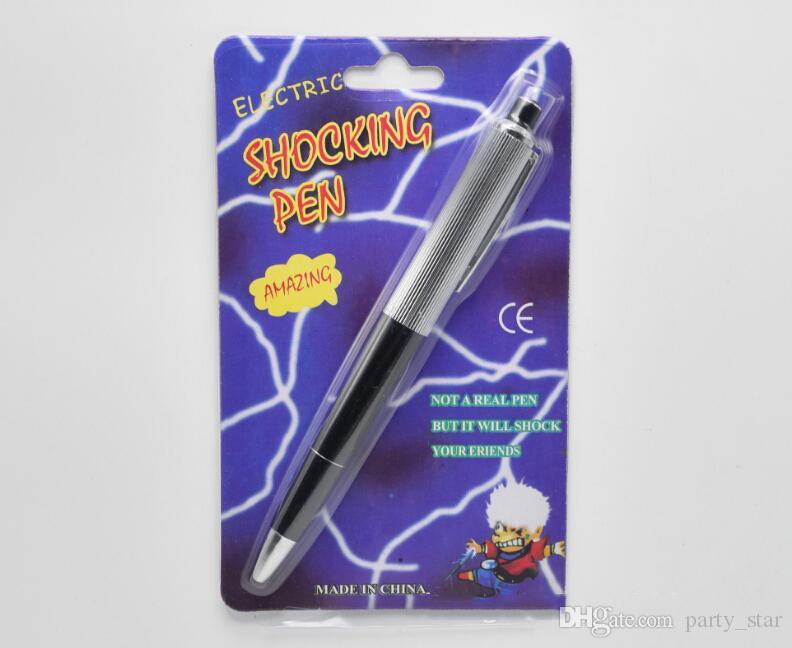 할로윈 4 월 바보의 날 파티 충격 펜 소품 재미 있은 농담 펜 도구 파티 속임수 스푸핑 완구