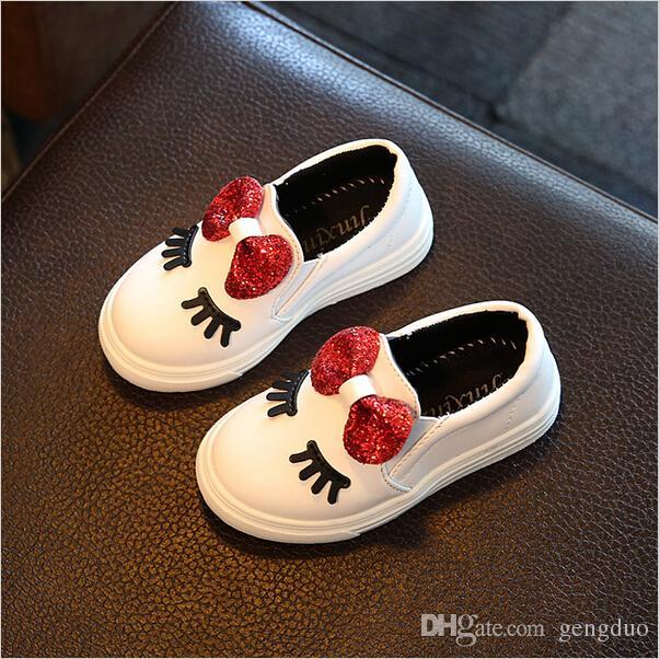 Crianças Meninas Outono Sapatos Com Arco Moda Sneaker Crianças Baby Girl Sapatos Casuais Esporte À Prova D 'Água Slip-Resistente Sapato Bonito