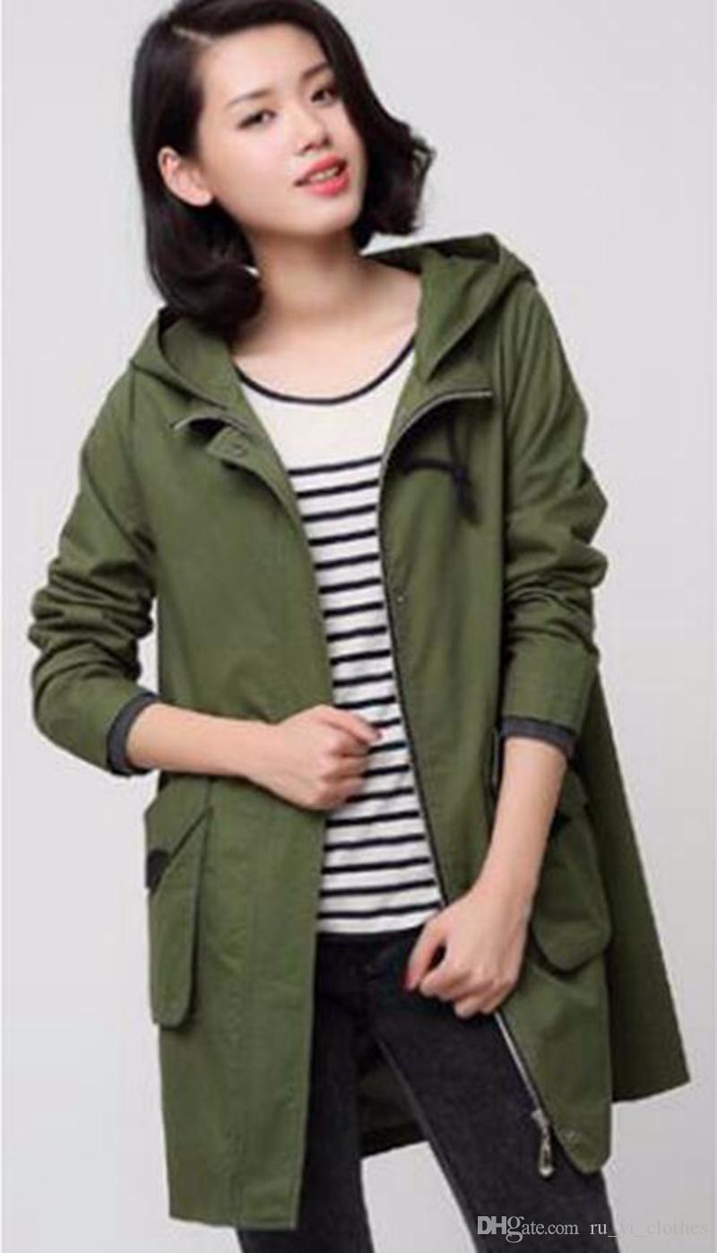 여성 qiu 동 한판 에디션 사업 영어 새로운 패션 부티크 개성 긴 면화 트렌치 코트 / M - 4xl