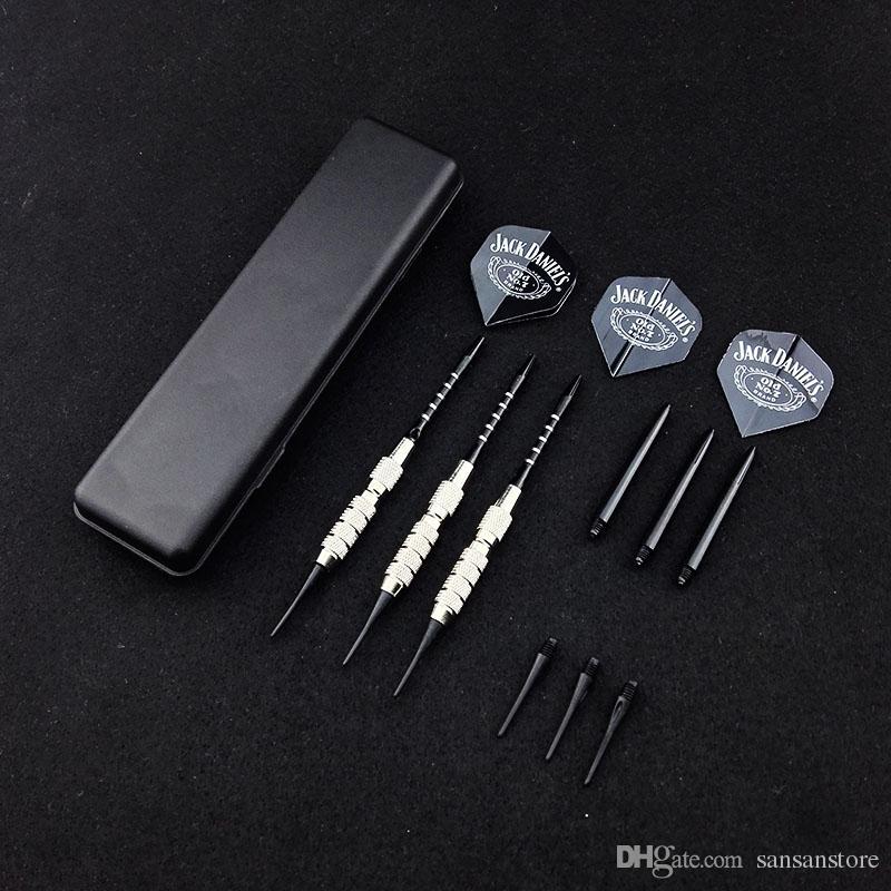 3 PC / Satz 18g elektronische Darts Profi-Dart Kupferrute Anti-Wurf Aluminium Welle PTU Flügel Soft Tip Dart Spielzeug