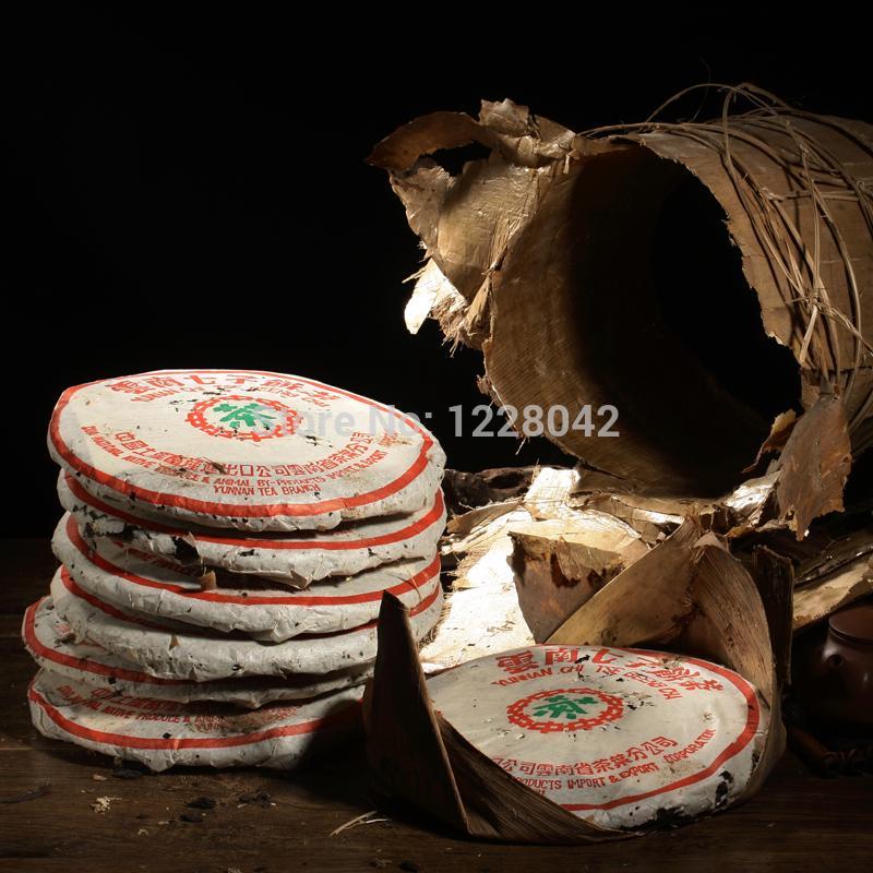 Сделано in1978 спелый пуэр, 357g самого старого пуэра чая, ansestor антикварного, мед сладкого ,, тусклого-красный чай пуэра, древнее дерево Freeshipping