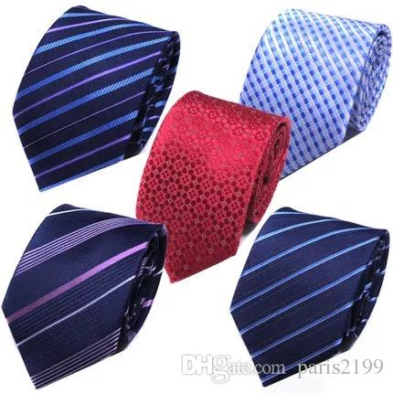 2018 vendite calde Moda cravatta di seta Mens Dress Tie matrimonio Business nodo solido vestito Cravatta per cravatte da uomo