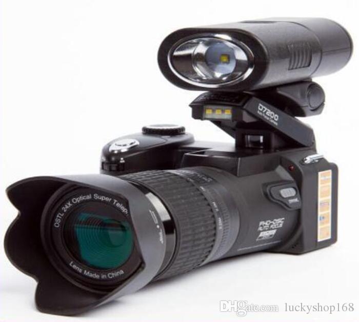 zoom ottico Nuova PROTAX POLO fotocamera digitale D7100 di alta qualità 33MP PIENA HD1080P 24X Auto Focus camcorder professionale 1pcs DHL