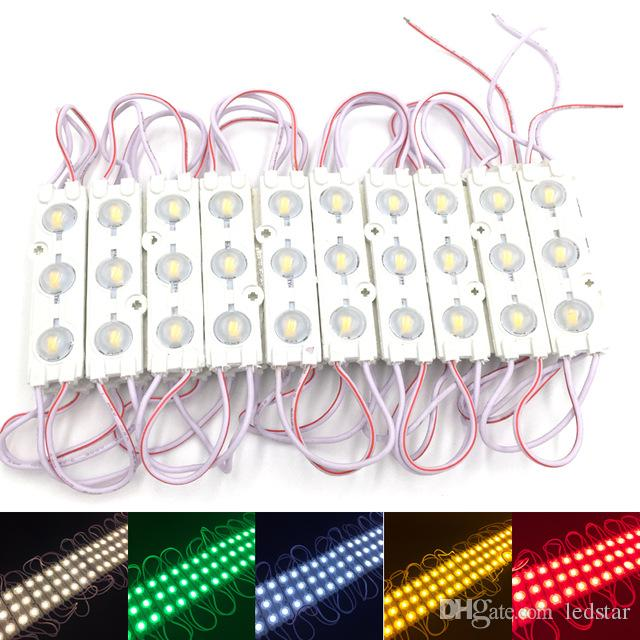 Les modules LED stockent le signe de la lumière de la fenêtre avant de la lampe 3 SMD 5630 Injection blanc ip68 La lumière de bande imperméable à l'eau a mené le rétroéclairage (10pi = 20pcs)